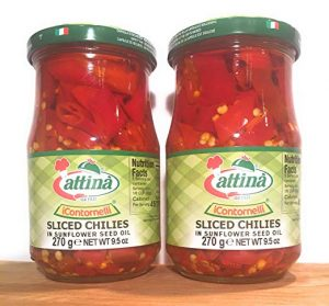 Sliced Chilies in Oil by Attina - (2 Pack) Image