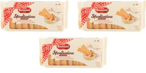 Puffed Pastry Cookies with Sugar- by Bonomi (3 Pack) Image