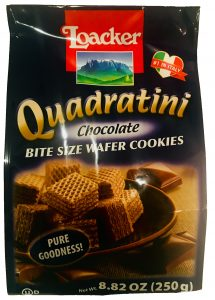Quadratini Chocolate Bite Size Wafers - by Loacker Image