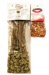 Dried Oregano and Crushed Hot Pepper Flakes imported from Calabria Image