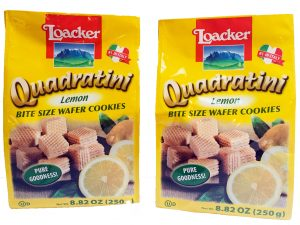 Quadrattini Lemon Wafer Cookies by Loacker Image